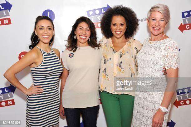 Grace Parra, Emiliana Guereca, Amy Holmes and Katie Hopkins at Politicon at Pasadena Convention Center on July 30, 2017 in Pasadena, California.