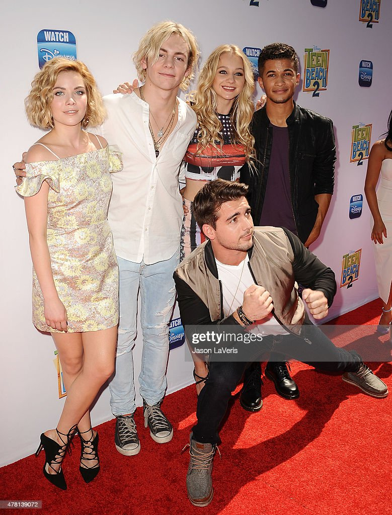 Grace Phipps, Ross Lynch, Mollee Gray, Jordan Fisher and Johnny DeLuca attend the premiere of 'Teen Beach 2' at Walt Disney Studios on June 22, 2015 in Burbank, California.