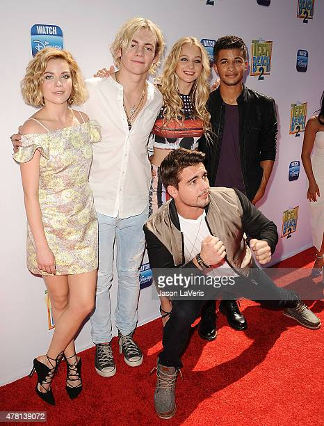 Grace Phipps Ross Lynch Mollee Gray Jordan Fisher and Johnny DeLuca attend the premiere of Teen Beach 2 at Walt Disney Studios on June 22 2015 in...