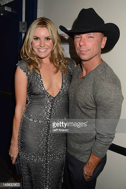 Grace Potter and Kenny Chesney attend the 2012 CMT Music awards at the Bridgestone Arena on June 6 2012 in Nashville Tennessee