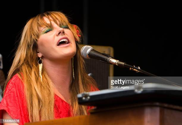 Grace Potter and the Nocturnals performs during the 2009 BamaJam Music and Arts Festival on June 4 2009 in Enterprise Alabama