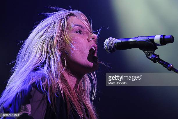 Grace Potter and The Nocturnals performs live for fans at the 2014 Byron Bay Bluesfest on April 17 2014 in Byron Bay Australia