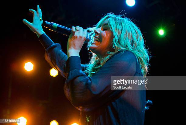 Grace Potter of Grace Potter and the Nocturnals perform at the DTE Energy Music Theater on July 9 2013 in Clarkston Michigan