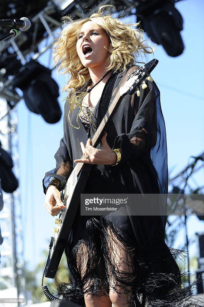 Grace Potter of Grace Potter and the Nocturnals performs as part of Day 2 of the 2012 Coachella Valley Music & Arts Festival at the Empire Polo Fields on April 14, 2012 in Indio, California.