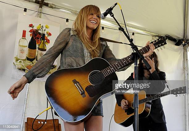 Grace Potter of Grace Potter and the Nocturnals performs at Peju Vineyards as part of Aloft Hotels Presents Live in the Vineyard on April 10 2011 in...