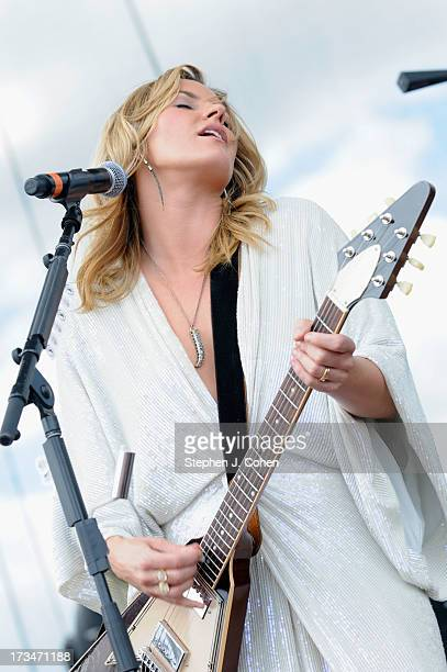Grace Potter of Grace Potter and the Nocturnals performs during the 2013 Forecastle Festival at Waterfront Park on July 14 2013 in Louisville Kentucky