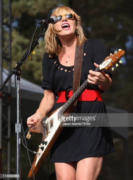 Grace Potter of Grace Potter The Nocturnals performs onstage during the 2008 Outside Lands Music And Arts Festival held at Golden Gate Park on August...