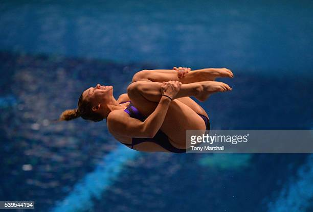 Grace Reid competes in the Women's 3m Spring Board Final during the British Diving Championships 2016 Day Three at Ponds Forge on June 12 2016 in...