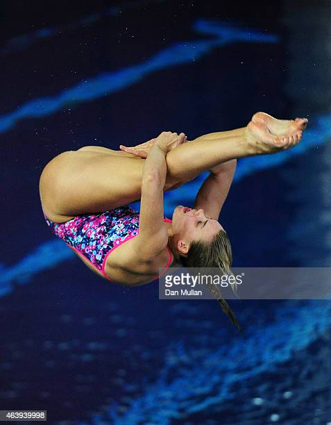 Grace Reid of Edinburgh Diving Club competes in the Womens 1m Preliminary during Day One of the British Gas Diving Championships at The Life Centre...