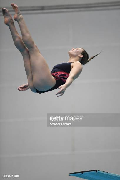 Grace Reid of Great Britain competes in the Women's 3m Springboard final during day three of the FINA Diving World Series Fuji at Shizuoka...