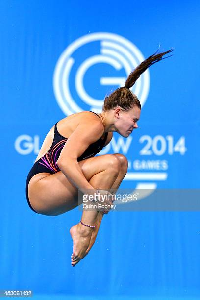 Grace Reid of Scotland competes in the Women's 3m Springboard Preliminaries at Royal Commonwealth Pool during day ten of the Glasgow 2014...