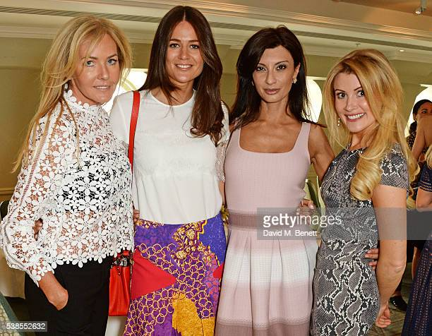 Grace Ricci, Kim Johnson, Alessandra Vicedomini and Kate Hersov attend a lunch hosted by Tamara Beckwith and Alessandra Vicedomini to celebrate...