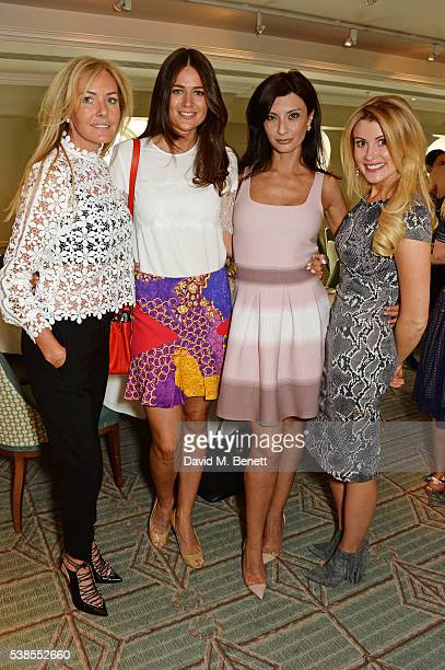 Grace Ricci Kim Johnson Alessandra Vicedomini and Kate Hersov attend a lunch hosted by Tamara Beckwith and Alessandra Vicedomini to celebrate luxury...