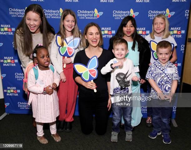 Grace Rose, Kennedy Lewis, Ella Annear, Natalie Portman, Elliott Fletcher, Kairi Ramirez, Pierce Kelly and Saylor Pierson attend Children's Hospital...