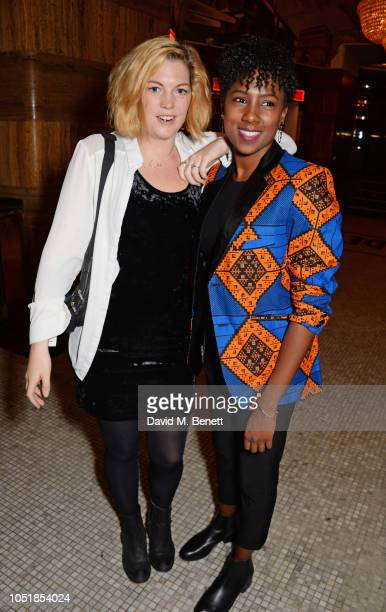 """Grace Savage and Jade Anouka attend an after party for """"Happy Birthday, Harold"""", a charity gala celebrating the life and work of Harold Pinter and..."""