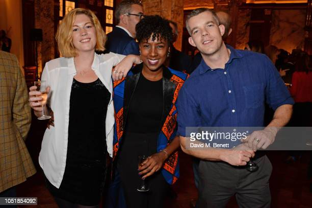 """Grace Savage, Jade Anouka and Russell Tovey attend an after party for """"Happy Birthday, Harold"""", a charity gala celebrating the life and work of..."""