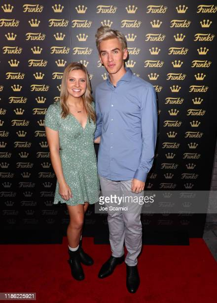 Grace Sharer and Stephen Sharer attend the Funko Hollywood VIP Preview Event at Funko Hollywood on November 07 2019 in Hollywood California