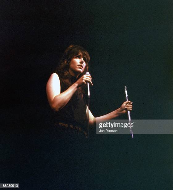 Grace Slick of Jefferson Airplane performing on stage in Copenhagen in September 1968
