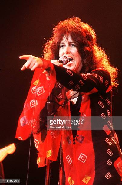 Grace Slick of Jefferson Starship performs on stage New York September 1978