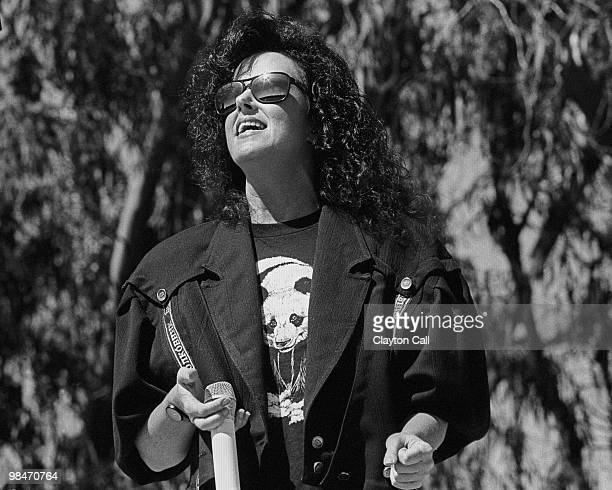 Grace Slick performing with Jefferson Airplane in Golden Gate Park on September 30 1989