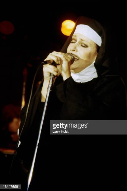 Grace Slick performs with the 'Jefferson Starship' at the Opera House in San Francisco California on April 14 1982
