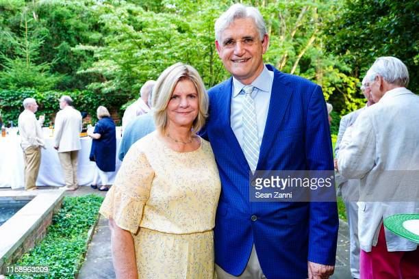 Grace Stillman and Dr Bruce Stillman attend A Country House Gathering To Benefit Preservation Long Island on June 28 2019 in Locust Valley New York