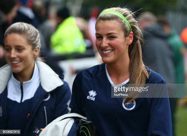 Grace Taylor of Millwall Lionesses LFC during The FA Women's Cup Fifth Round match between Arsenal against Millwall Lionesses at Meadow Park...