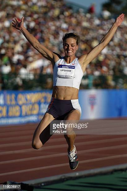 Grace Upshaw finished second in the women's long jump at 225 at the US Track and Field Olympic trials at California State University Sacramento...