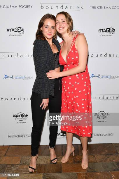 "Grace Van Patten and Anna Van Patten attend the ""Boundaries"" New York screening at The Roxy Cinema on June 11, 2018 in New York City."