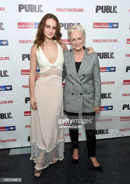"""Grace Van Patten and Glenn Close attend the """"Mother Of The Maid"""" Opening Night Celebration at The Public Theater on October 17, 2018 in New York City."""