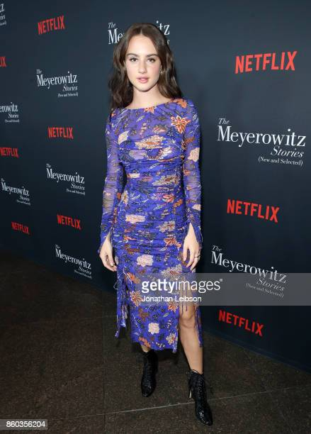 Grace Van Patten at a special screening of The Meyerowitz Stories at DGA Theater on October 11 2017 in Los Angeles California