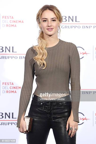 Grace Van Patten attends a photocall for 'Tramps' during the 11th Rome Film Festival at Auditorium Parco Della Musica on October 16 2016 in Rome Italy