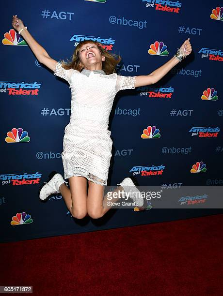 Grace Vanderwaal arrives at the 'America's Got Talent' Season 11 Finale Live Show at Dolby Theatre on September 13 2016 in Hollywood California