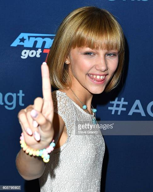 Grace Vanderwaal arrives at the America's Got Talent Season 11 Finale Live Show at Dolby Theatre on September 14 2016 in Hollywood California