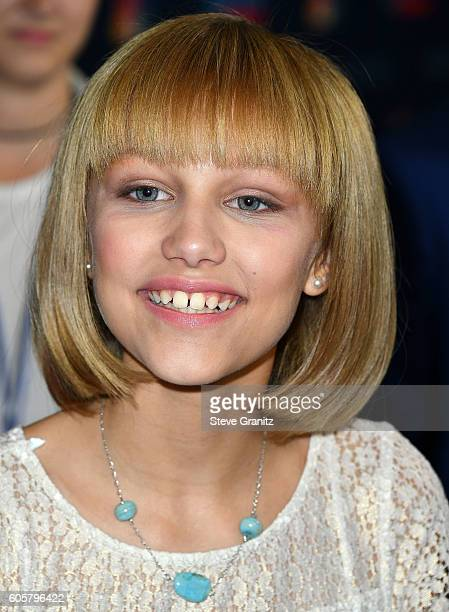 Grace Vanderwaal arrives at the 'America's Got Talent' Season 11 Finale Live Show at Dolby Theatre on September 14 2016 in Hollywood California