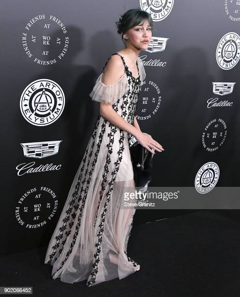 Grace VanderWaal arrives at the The Art Of Elysium's 11th Annual Celebration Heaven on January 6 2018 in Santa Monica California