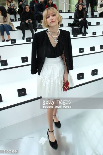 Grace VanderWaal attends the Chanel show as part of the Paris Fashion Week Womenswear Fall/Winter 2020/2021 on March 03, 2020 in Paris, France.