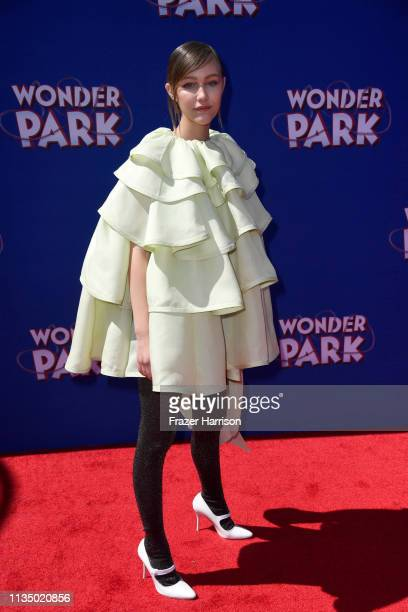 "Grace VanderWaal attends the Premiere Of Paramount Pictures' ""Wonder Park"" at Regency Bruin Theatre on March 10, 2019 in Los Angeles, California."