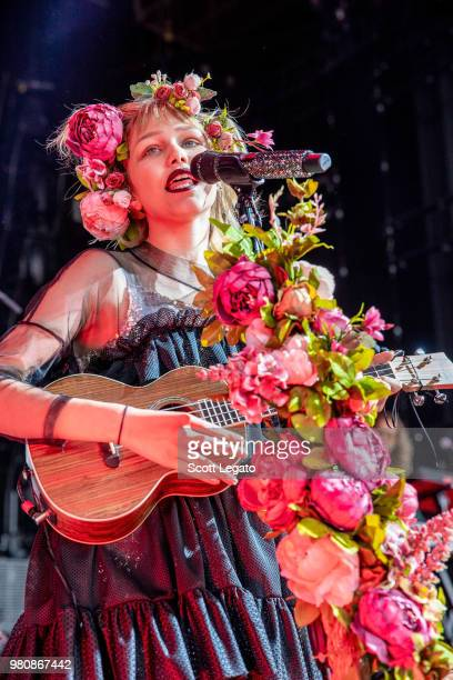 Grace VanderWaal performs at DTE Energy Music Theater on June 21, 2018 in Clarkston, Michigan.