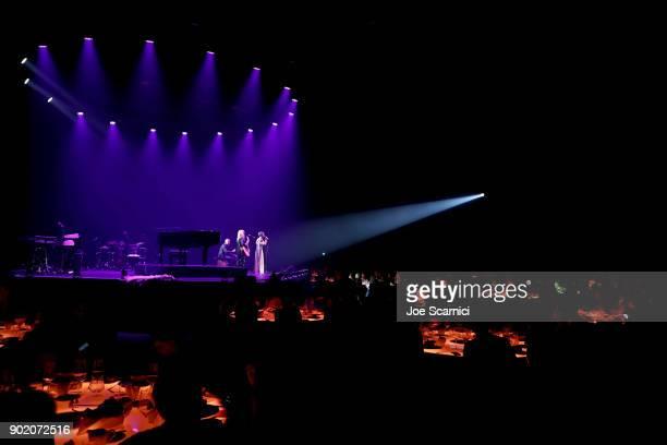 Grace VanderWaal performs at the Moet Hennessy John Legend's HEAVEN with the Art of Elysium at Barker Hangar on January 6 2018 in Santa Monica...