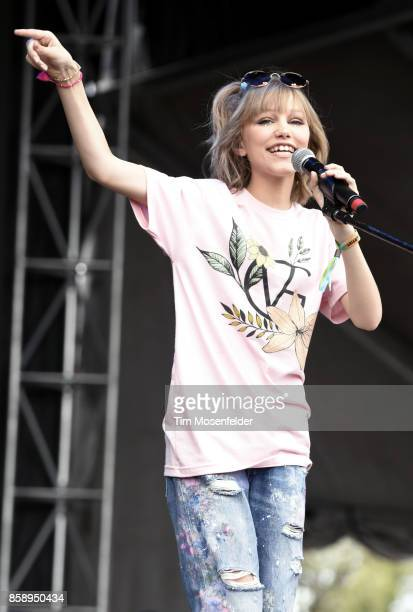 Grace VanderWaal performs during the Austin City Limits Music Festival at Zilker Park on October 7 2017 in Austin Texas