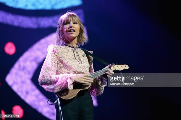 Grace Vanderwaal performs on stage at the WE Day UN at The Theater at Madison Square Garden on September 20 2017 in New York City