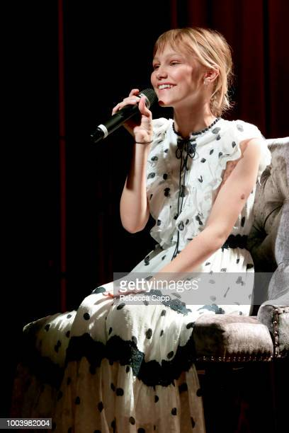 Grace VanderWaal speaks with Carly Mallenbaum writer for USA TODAY at Spotlight Grace VanderWaal at The GRAMMY Museum on July 22 2018 in Los Angeles...