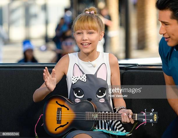Grace Vanderwaal visits 'Extra' at Universal Studios Hollywood on September 15 2016 in Universal City California
