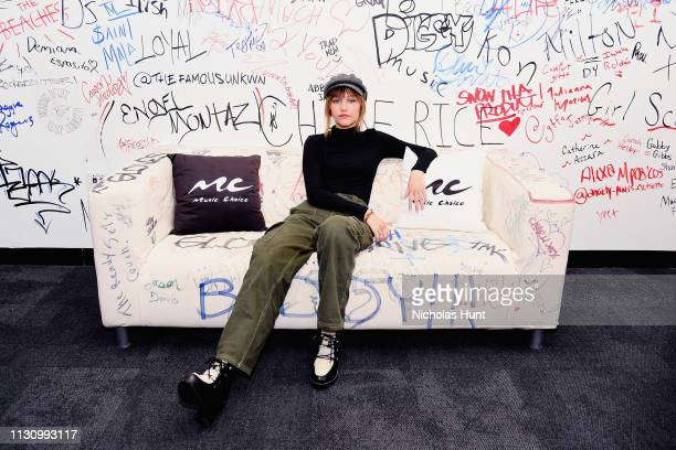 Grace Vanderwaal Visits Music Choice on February 20 2019 in New York City