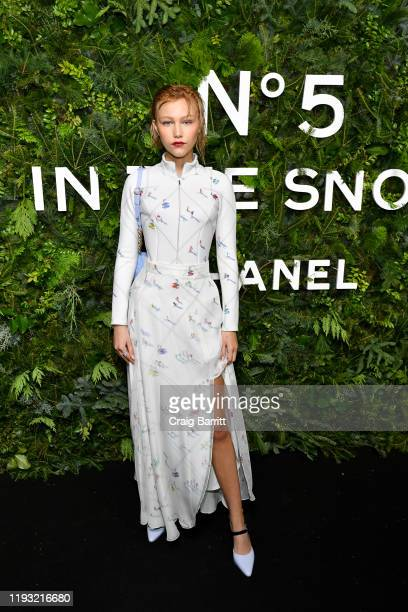 Grace VanderWaal wearing CHANEL attends the CHANEL party to celebrate the debut of CHANEL N5 In The Snow at The Standard High Line on December 10...