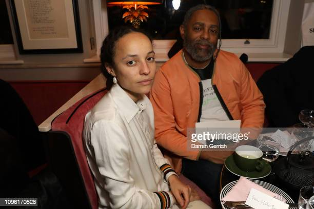 Grace Wales Bonner and Arthur Jafa attends the Grace Wales Bonner A Time for New Dreams private view dinner party at Laylow on January 18 2019 in...