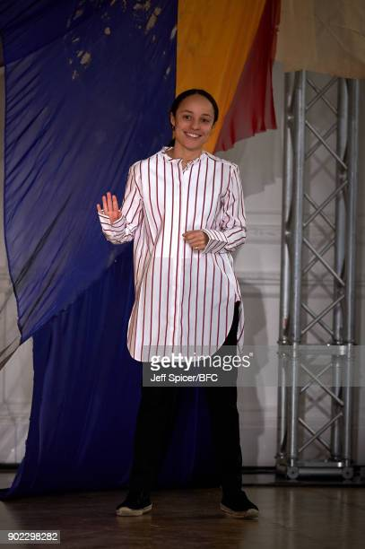 Grace Wales Bonner at the WALES BONNER show during London Fashion Week Men's January 2018 at One Belgravia on January 7 2018 in London England