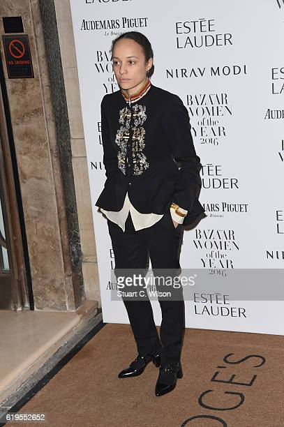 Grace Wales Bonner attends Harper's Bazaar Women Of The Year Awards at Claridge's Hotel on October 31 2016 in London England