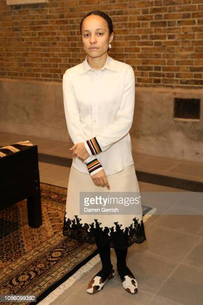 Grace Wales Bonner attends the Grace Wales Bonner A Time for New Dreams private view at the Serpentine Sackler Gallery on January 18 2019 in London...